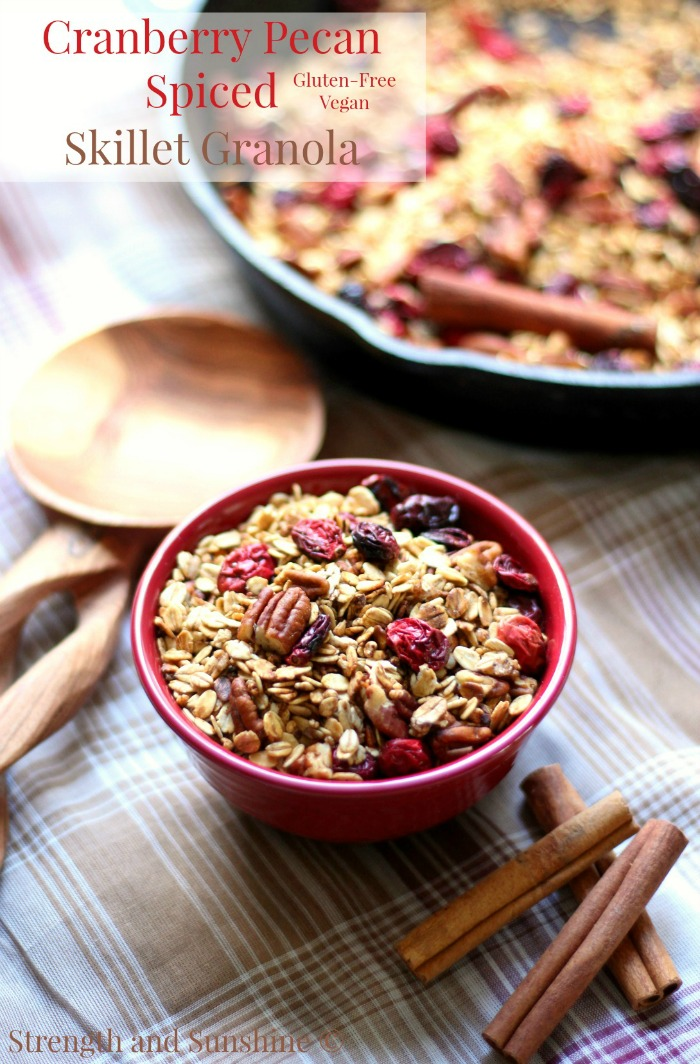 Cranberry-Pecan-Spiced-Skillet-Granola
